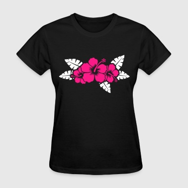 Hawaiian Flower Floral Design - Women's T-Shirt
