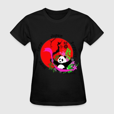 Japan Earthquake Japan Earthquake Relief Support 3D Panda - Women's T-Shirt