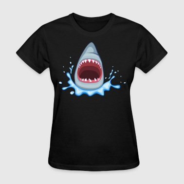 Jaws Shark - HD Design - Women's T-Shirt