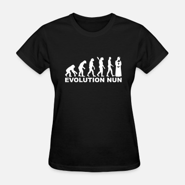 Evolution Jesus Cross Nun - Women's T-Shirt