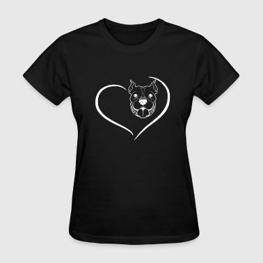 Pitbull Heart Shirt - Women's T-Shirt