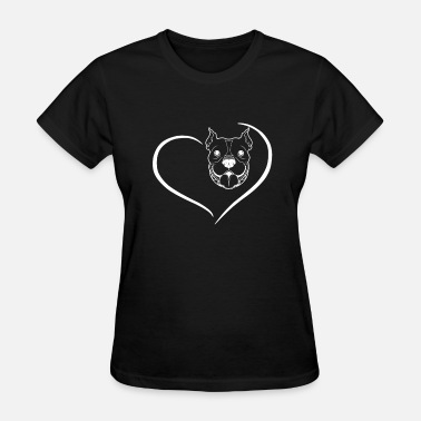 Clothes Pitbull Pitbull Heart Shirt - Women's T-Shirt