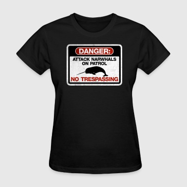 Attack Narwhals on Patrol  - Vintage - Women's T-Shirt