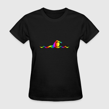 Breasts Rainbow Colorful Swimming Rainbow - Women's T-Shirt