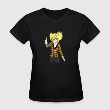 Trigger Finger Manga blonde glases trigger finger - Women's T-Shirt