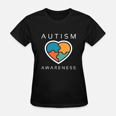 Asd - Autism Puzzle Piece Heart Autism Awareness - Women's T-Shirt