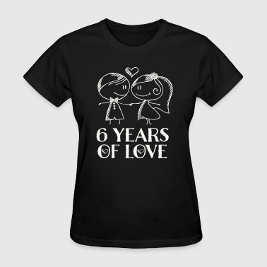 6th Anniversary Couples Husband Wife Gift - Women's T-Shirt