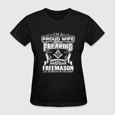 Midnight Society Freemason - PRoud wife of a freemason - Women's T-Shirt