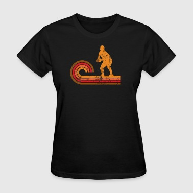 Retro Style Scrum Half Silhouette Rugby - Women's T-Shirt