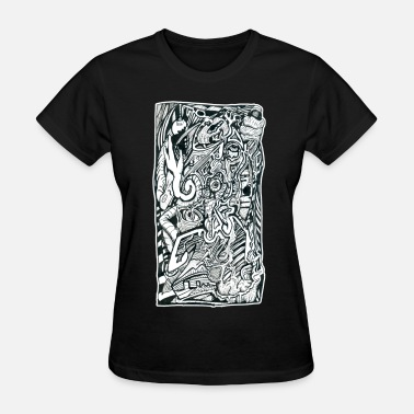 India Psychedelic Psy Anxiety Attack by Brian Benson - Women's T-Shirt