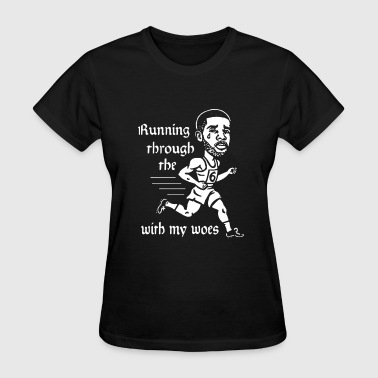 Running through the with my woes - Women's T-Shirt