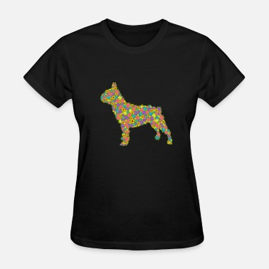 French Bulldog Apparel French Bulldog Flower Shirts - Women's T-Shirt