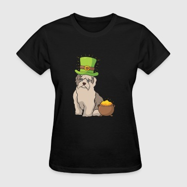 Shih Tzu dog St Patrick's Day Gift - Women's T-Shirt