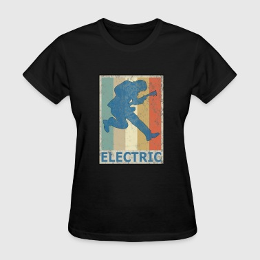 Retro Vitage Style Electric Guitar Player Bass - Women's T-Shirt