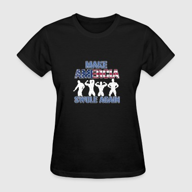 Swole Life Amercia Swole Again Body Builder - Women's T-Shirt