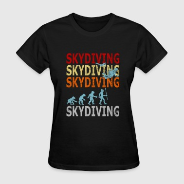 Free Zone Sport Retro Vintage Style Evolution Skydiver Skydiving - Women's T-Shirt