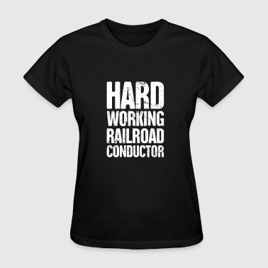 Retro Crew Retro Vintage Rail Crew Railroad Train Conductor - Women's T-Shirt