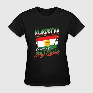Country Shirt - Kurdistan, where my story begins - Women's T-Shirt