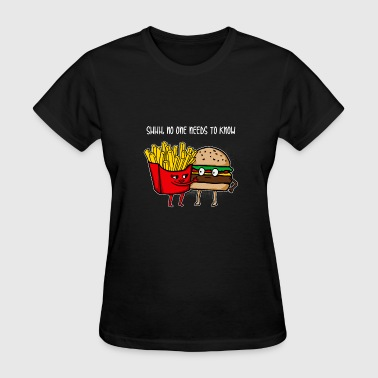 Burger Funny Cool Awesome Burger and fries gift - Women's T-Shirt
