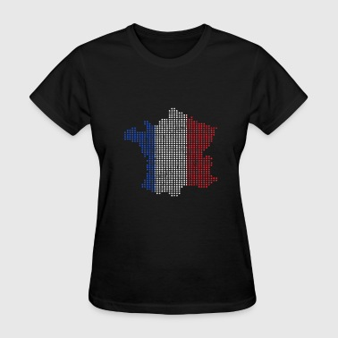 Kids French French Map France Gift Christmas Kids - Women's T-Shirt