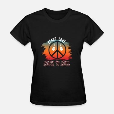 Peace Love Rock N Roll Peace Love Rock N' Roll - Women's T-Shirt