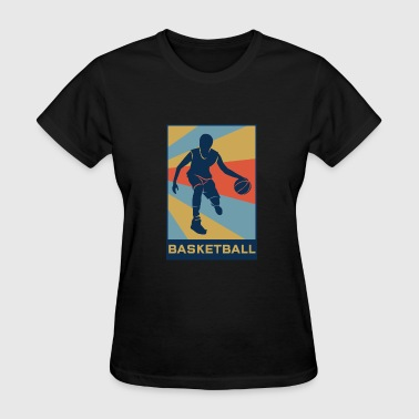Basketball Court Basketball Retro Vintage Basketballer Court - Women's T-Shirt