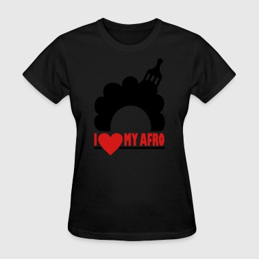 Afro Comb & I Love My Afro - Women's T-Shirt