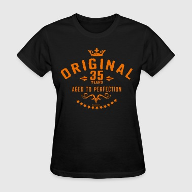 Original 35 years aged to perfection - RAHMENLOS birthday gift - Women's T-Shirt