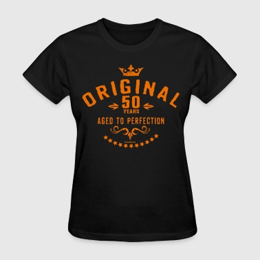 Age 50 Geek Original 50 years aged to perfection - RAHMENLOS birthday gift - Women's T-Shirt