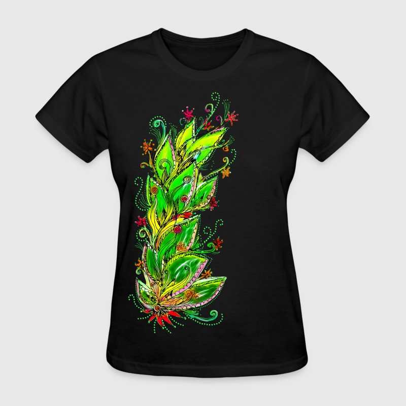 JUNGLE FLOWER, RAIN FOREST, NATURE, GREEN - Women's T-Shirt