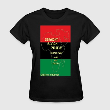 Straight Black Pride - Women's T-Shirt