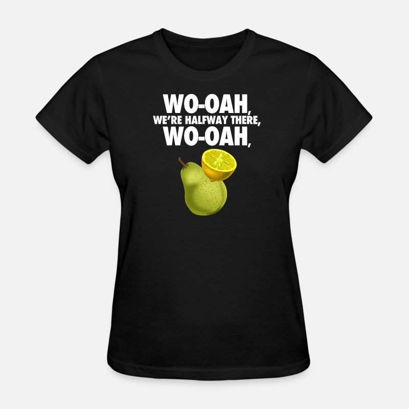 Internet T-Shirts - lemon on a pear - funny misheard lyrics - Women's T-Shirt black