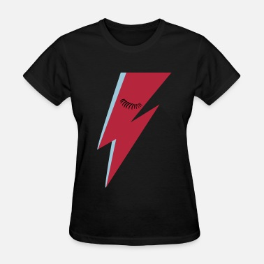 Stardust Lightning Bolt and Eyelashes - Women's T-Shirt