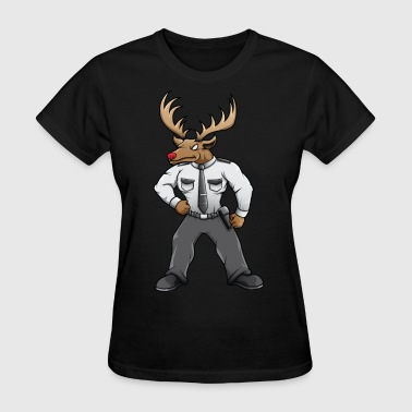Red Nosed Security deer with red nose - Women's T-Shirt