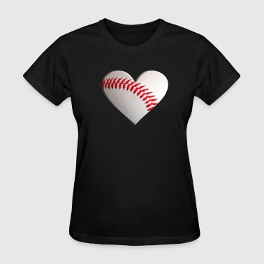 baseball heart - Women's T-Shirt
