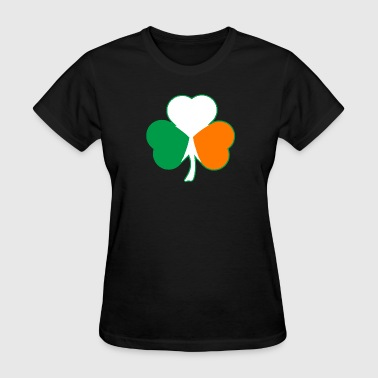 Irish Flag Hearts Shamrock - Women's T-Shirt