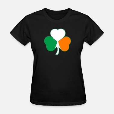 Irish Flag Shamrock Irish Flag Hearts Shamrock - Women's T-Shirt