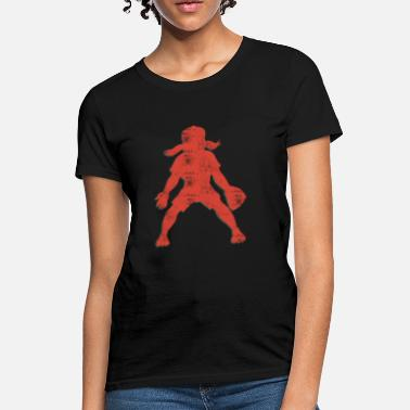 Curveball Fastball Knuckleball Baseball Girl Player Retro Abstract  - Women's T-Shirt
