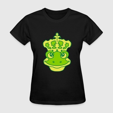 face head crown frog prince gold ball fairy tale s - Women's T-Shirt