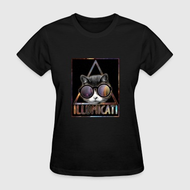 Illumicati Cat Secret Society - Women's T-Shirt