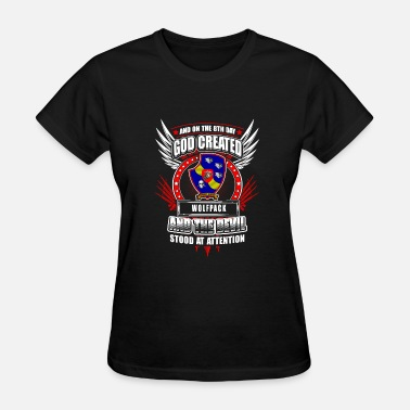 The Wolfpack Wolfpack - Wolfpack - god created wolfpack &the - Women's T-Shirt
