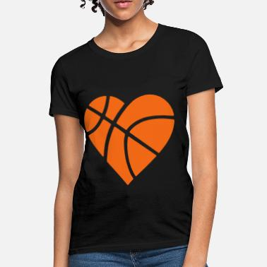 Basketball Heart Heart Basketball - Women's T-Shirt