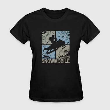 Square Head Snowmobile Squared - Women's T-Shirt