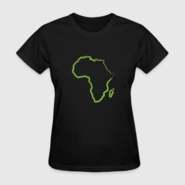 Africa Simple Line Art - Women's T-Shirt