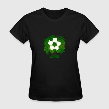 Love Soccer Ball Soccer Ball - Women's T-Shirt