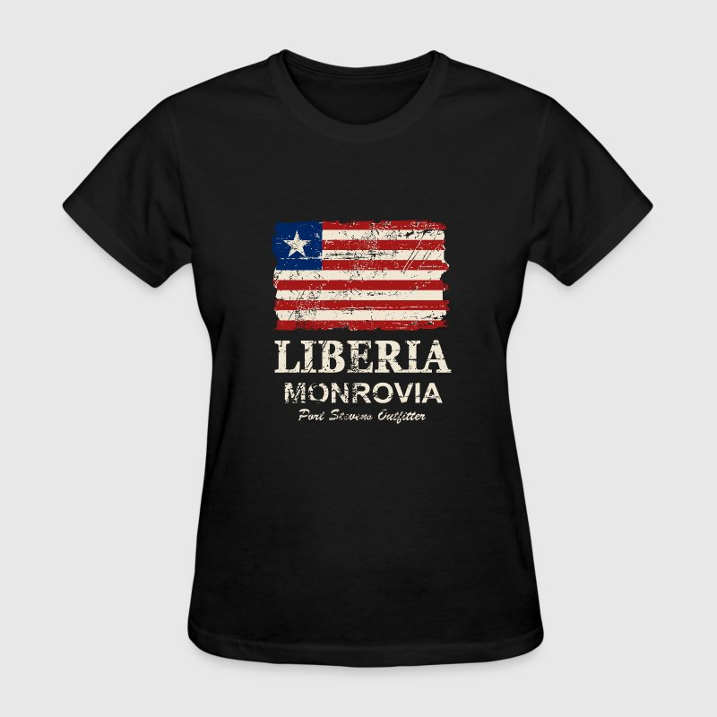 Liberia Flag - Vintage Look  - Women's T-Shirt