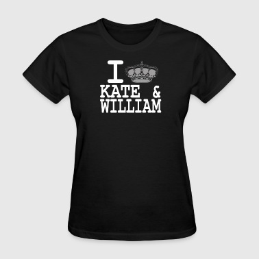 Kate Middleton I love Kate and William - crown white - Women's T-Shirt