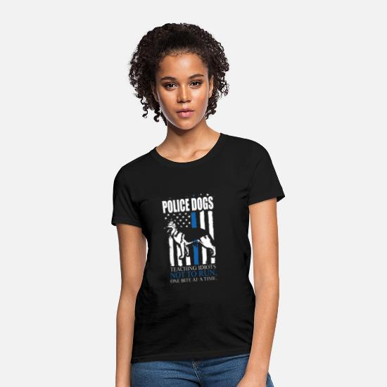 Police T-Shirts - Police Dogs - Women's T-Shirt black