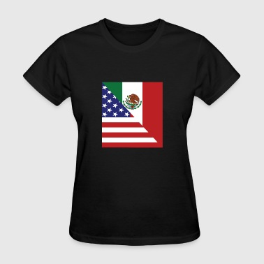 Mexican American Flag - Women's T-Shirt