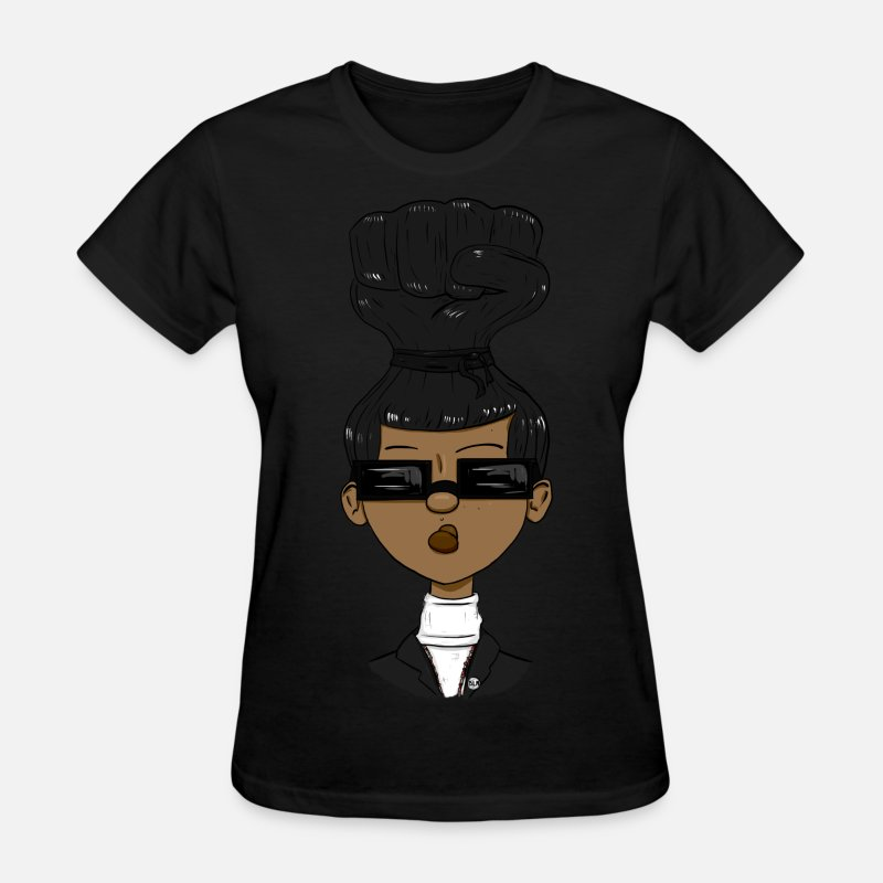 Black T-Shirts - Power Sista - Women's T-Shirt black